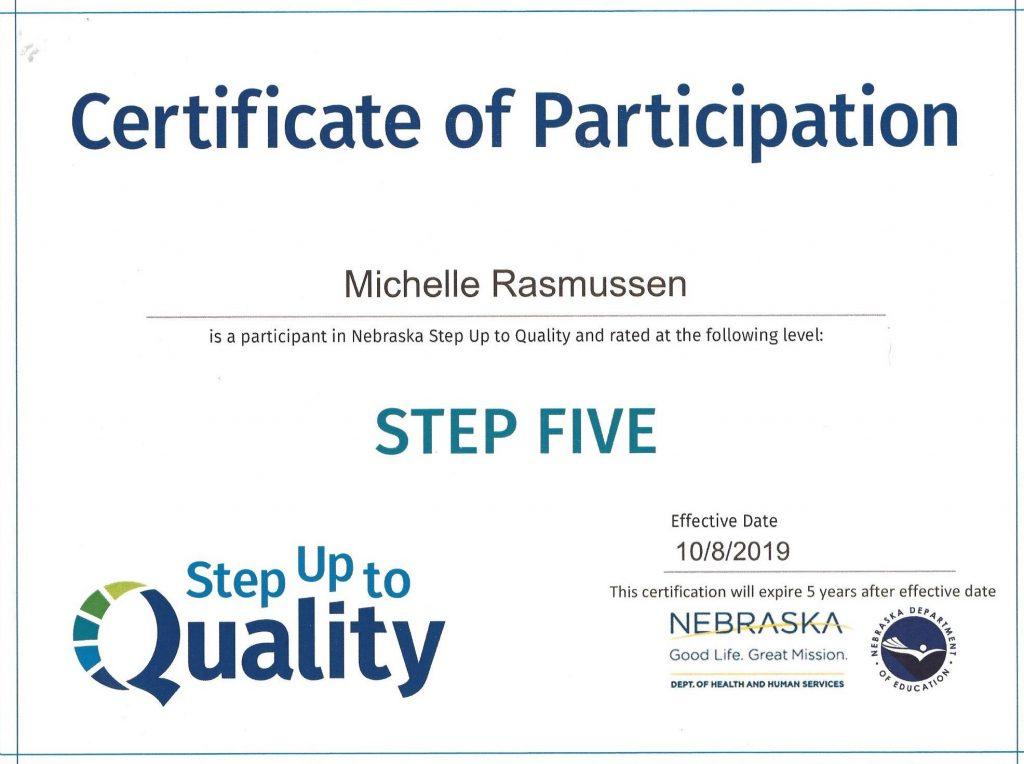 Step 5 Certificate